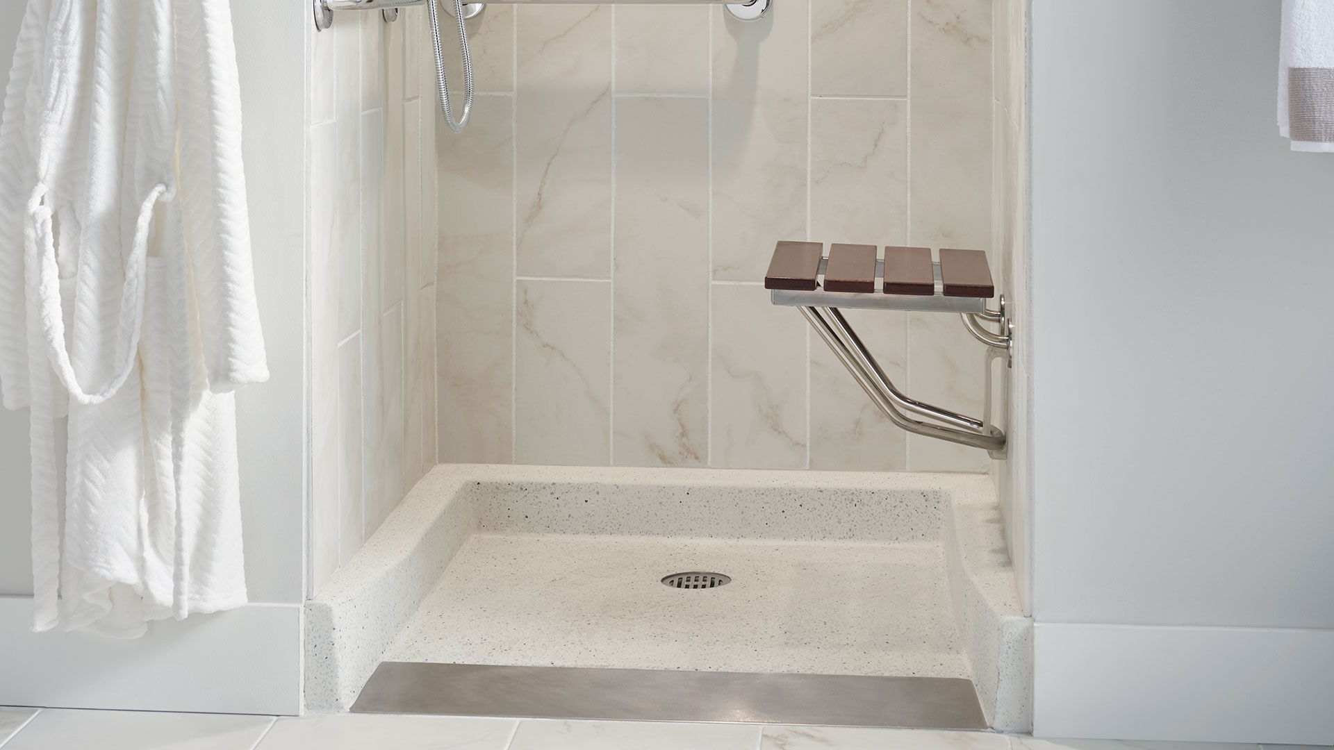 ada shower floors for handicap barrier free living fiat products